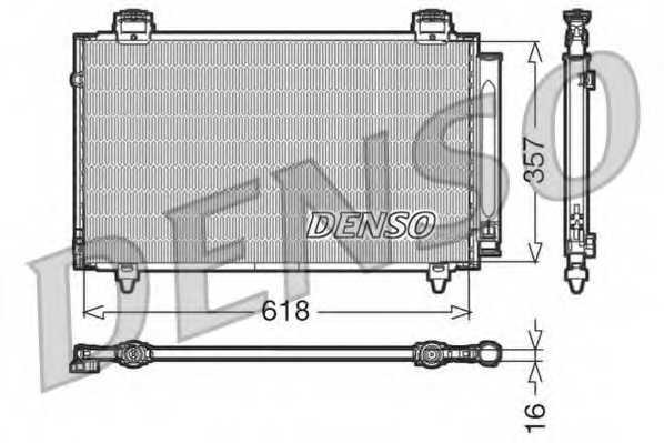 Конденсатор кондиционера DENSO DCN50004 - изображение
