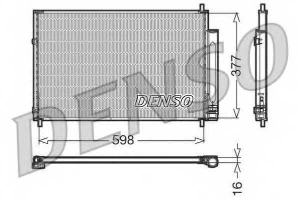 Конденсатор кондиционера DENSO DCN50006 - изображение