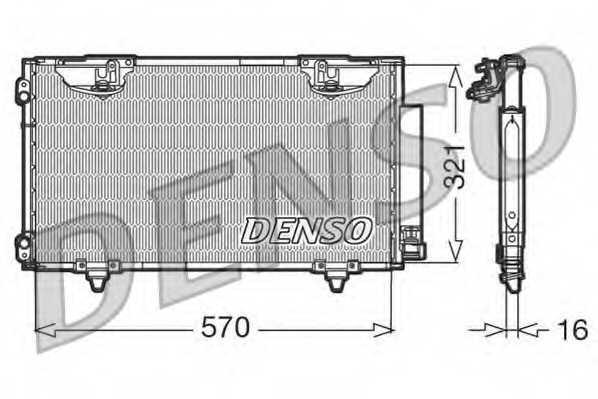 Конденсатор кондиционера DENSO DCN50010 - изображение
