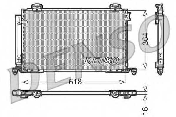 Конденсатор кондиционера DENSO DCN50015 - изображение