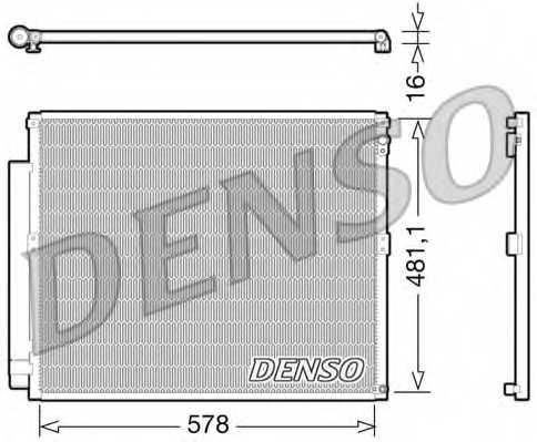 Конденсатор кондиционера DENSO DCN50017 - изображение