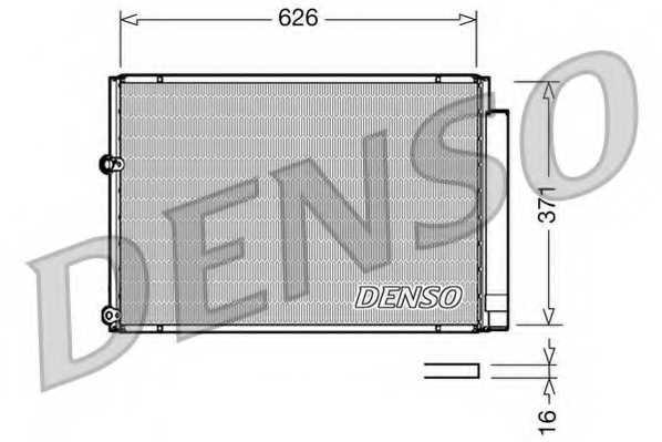 Конденсатор кондиционера DENSO DCN50018 - изображение