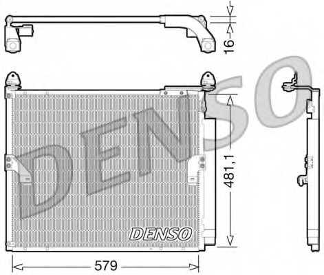 Конденсатор кондиционера DENSO DCN50019 - изображение