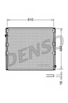 Конденсатор кондиционера DENSO DCN50020 - изображение