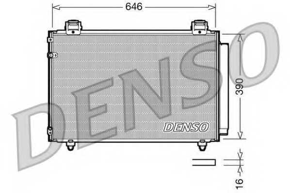 Конденсатор кондиционера DENSO DCN50024 - изображение