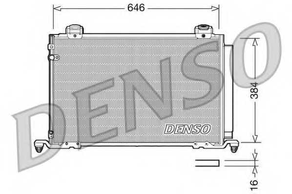 Конденсатор кондиционера DENSO DCN50026 - изображение