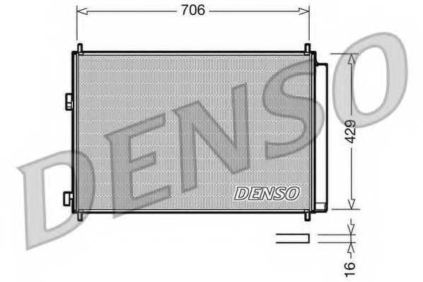 Конденсатор кондиционера DENSO DCN50030 - изображение
