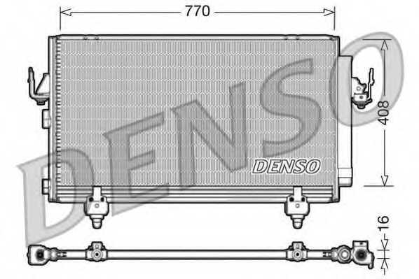 Конденсатор кондиционера DENSO DCN50031 - изображение