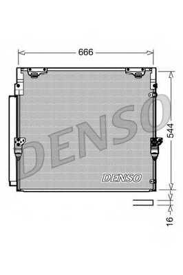 Конденсатор кондиционера DENSO DCN50036 - изображение