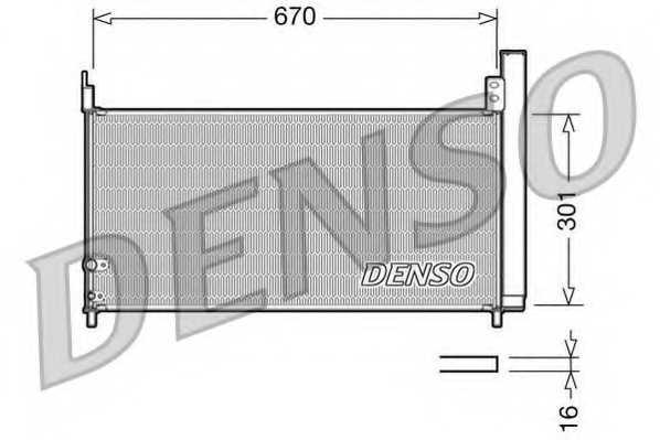 Конденсатор кондиционера DENSO DCN50037 - изображение
