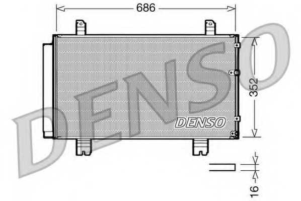 Конденсатор кондиционера DENSO DCN51002 - изображение