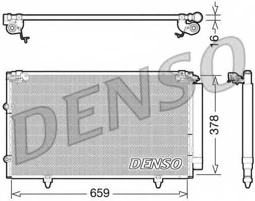 Конденсатор кондиционера DENSO DCN51003 - изображение