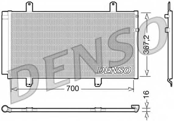 Конденсатор кондиционера DENSO DCN51004 - изображение
