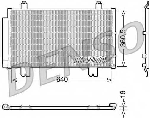 Конденсатор кондиционера DENSO DCN51005 - изображение