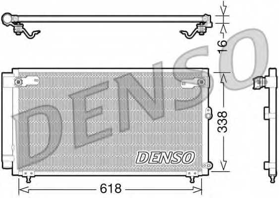 Конденсатор кондиционера DENSO DCN51006 - изображение