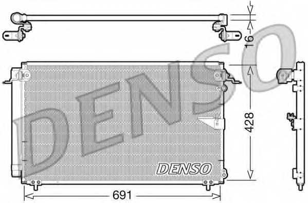 Конденсатор кондиционера DENSO DCN51008 - изображение