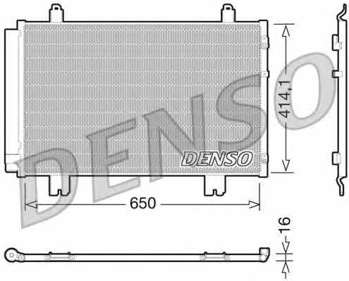 Конденсатор кондиционера DENSO DCN51009 - изображение