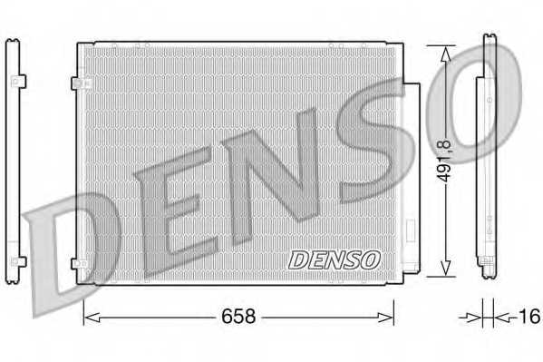 Конденсатор кондиционера DENSO DCN51010 - изображение