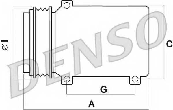 Компрессор кондиционера для FIAT DOBLO(152,263,263#), FIORINO(225), LINEA(323), PUNTO(199), QUBO(225) <b>DENSO DCP09016</b> - изображение 1