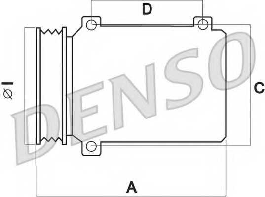 Компрессор кондиционера для CITROEN BERLINGO(B9), C4(B7,LA#,LC#), DS4, DS5 / PEUGEOT 308(4C#,4A#), 508, PARTNER, RCZ <b>DENSO DCP21012</b> - изображение