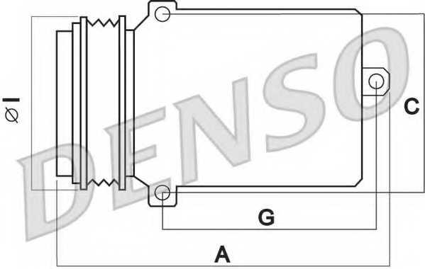 Компрессор кондиционера для VW BORA(1J2,1J6), GOLF(1J1,1J5), LUPO(6E1,6X1), POLO(9A4,9N#) <b>DENSO DCP27001</b> - изображение 1