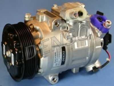 Компрессор кондиционера для VW BORA(1J2,1J6), GOLF(1J1,1J5), LUPO(6E1,6X1), POLO(9A4,9N#) <b>DENSO DCP27001</b> - изображение