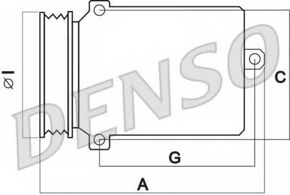 Компрессор кондиционера для AUDI A3(8L1,8P1,8PA) / SKODA OCTAVIA(1U2,1U5,1Z5) / VW GOLF(521,1J1,1J5,5M1), TOURAN(1T2,1T1) <b>DENSO DCP32003</b> - изображение 1