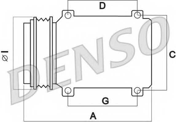 Компрессор кондиционера для TOYOTA COROLLA(#E12T#, CDE12#, NDE12#, ZDE12#, ZZE12#, #E11#, #E12J#, CDE12#, ZDE12#) <b>DENSO DCP50011</b> - изображение 1