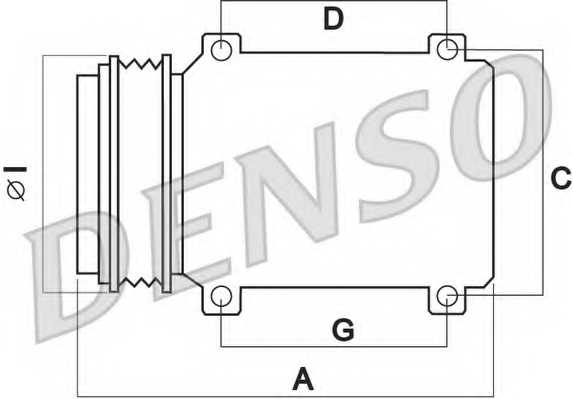 Компрессор кондиционера для TOYOTA LAND CRUISER(GRJ12#, KDJ12#, KZJ12#, TRJ12#,LJ12#) <b>DENSO DCP50076</b> - изображение