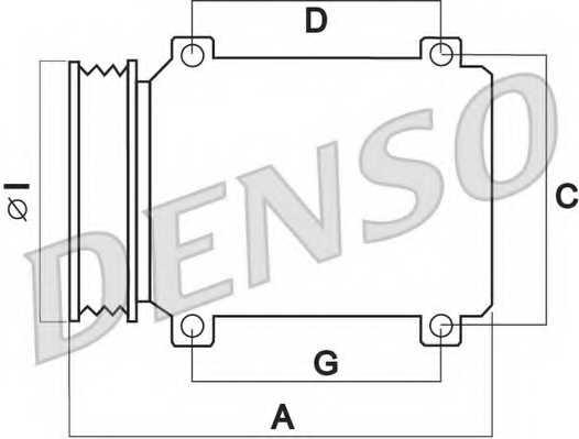 Компрессор кондиционера для TOYOTA COROLLA, VIOS/YARIS, YARIS <b>DENSO DCP50242</b> - изображение