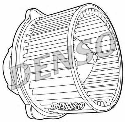 Вентилятор салона DENSO DEA41002 - изображение