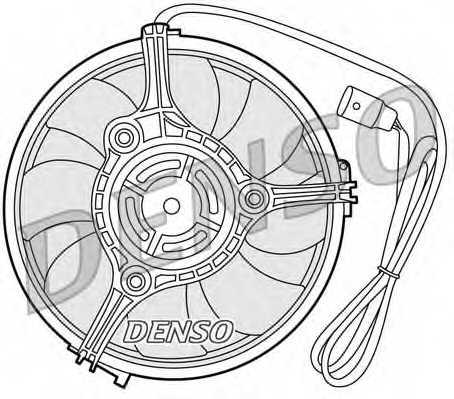 Вентилятор охлаждения двигателя DENSO DER02001 - изображение