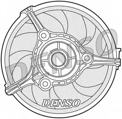 Вентилятор охлаждения двигателя DENSO DER02002 - изображение