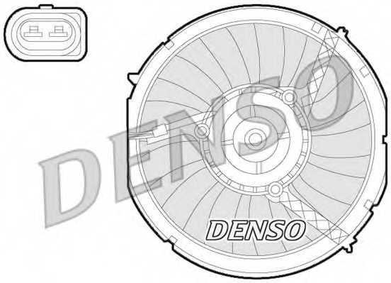 Вентилятор охлаждения двигателя DENSO DER02003 - изображение