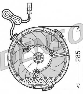 Вентилятор охлаждения двигателя DENSO DER02005 - изображение