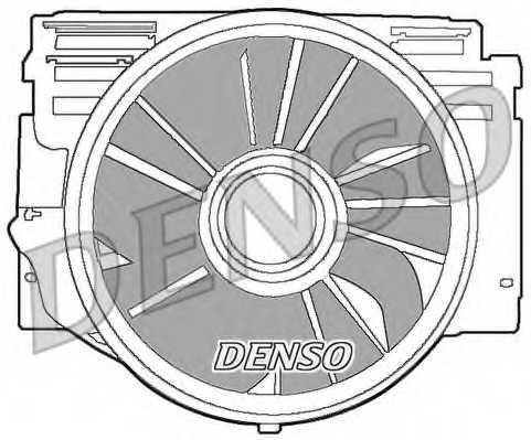 Вентилятор охлаждения двигателя DENSO DER05007 - изображение