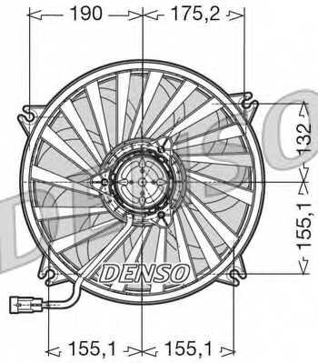 Вентилятор охлаждения двигателя DENSO DER07005 - изображение