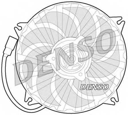 Вентилятор охлаждения двигателя DENSO DER07007 - изображение