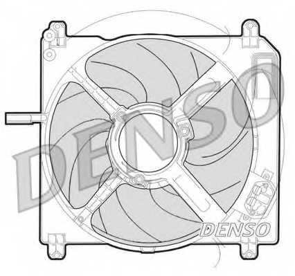 Вентилятор охлаждения двигателя DENSO DER09009 - изображение