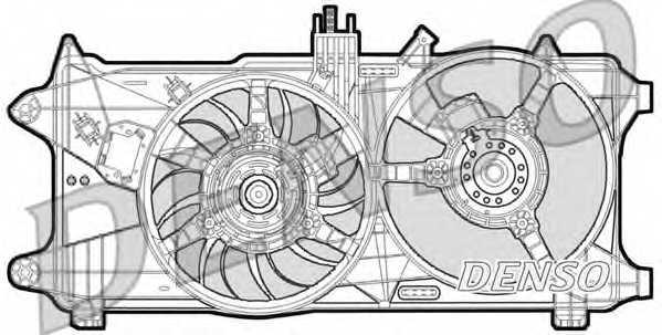 Вентилятор охлаждения двигателя DENSO DER09026 - изображение