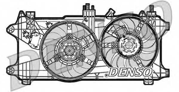 Вентилятор охлаждения двигателя DENSO DER09027 - изображение