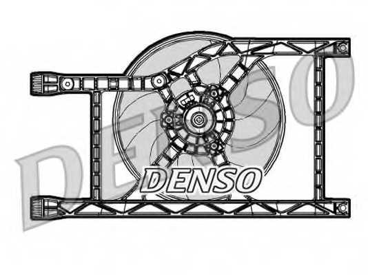 Вентилятор охлаждения двигателя DENSO DER09047 - изображение