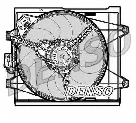 Вентилятор охлаждения двигателя DENSO DER09048 - изображение