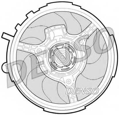 Вентилятор охлаждения двигателя DENSO DER09061 - изображение
