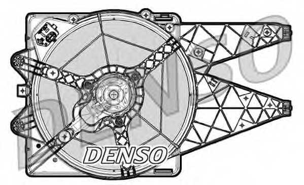Вентилятор охлаждения двигателя DENSO DER09064 - изображение