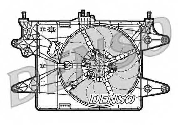 Вентилятор охлаждения двигателя DENSO DER09081 - изображение