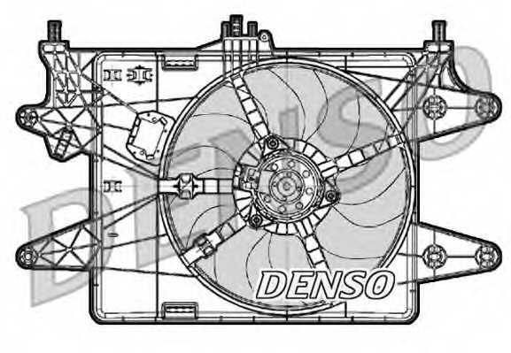Вентилятор охлаждения двигателя DENSO DER09083 - изображение