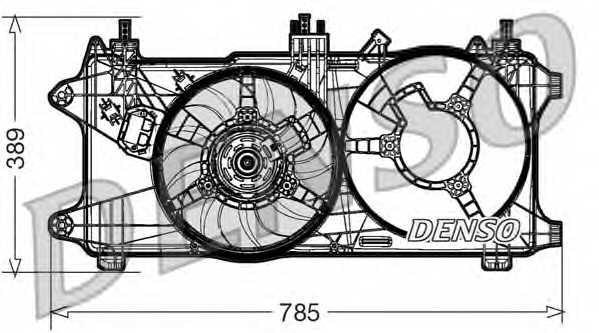 Вентилятор охлаждения двигателя DENSO DER09084 - изображение