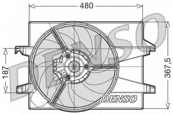 Вентилятор охлаждения двигателя DENSO DER10002 - изображение