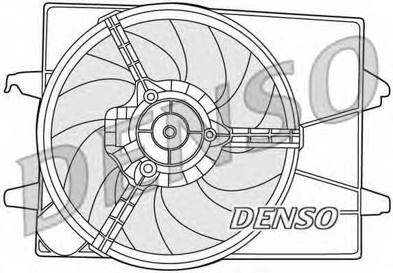 Вентилятор охлаждения двигателя DENSO DER10003 - изображение